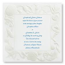 Beach Wedding Invitations Sea Of Love Wedding Invitations Themed Announcements Shell