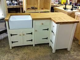 handmade freestanding butler belfast kitchen sink corner unit