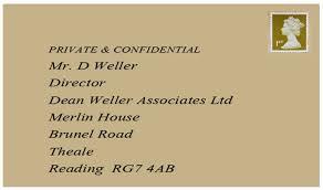 example cover letter dean weller
