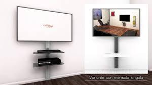 piedistalli per tv sustenia supporto tv con mensole