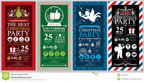 Invitation Cards For Christmas Party Christmas Party Invitation Card Stock Vector Image 50442441