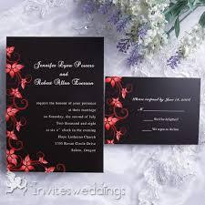 Black Wedding Invitations Black And Red Wedding Invitations Invitesweddings Com