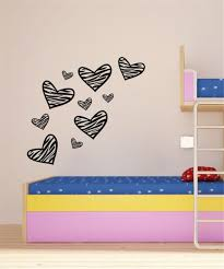 heart stickers on wall images heart stickers on wall wall decal heart shape art