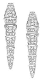 white gold diamond earrings bvlgari white gold serpenti 18k and diamond earrings tradesy