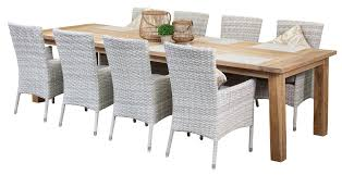 8 seat patio table teak outdoor dining sets grace 8 seater 3m recycled teak table