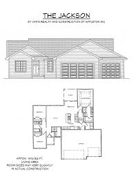 View House Plans by Floor Plan Van U0027s Realty U0026 Construction