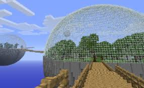 how to make a glass dome on minecraft 6 steps