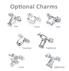 bracelet charms cross images Fish charm oval link sterling cremation jewelry bracelet for ashes jpg