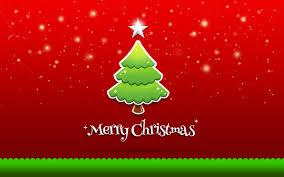 christmas greeting card u2013 christmas green tree on red background