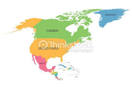 map of america with country names colorful map of america with names of all countries vector