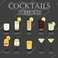 cocktail recipes poster cocktail menu recipes u2014 stock vector yak yak 105229964