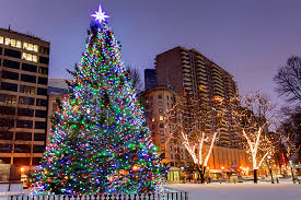 tree lightings and events around boston in 2017