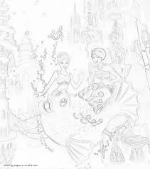 barbie the pearl princess coloring pages mermaid