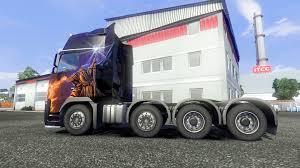 volvo 10 wheeler truck fh16 8x4 v2 0 super control for euro truck simulator 2