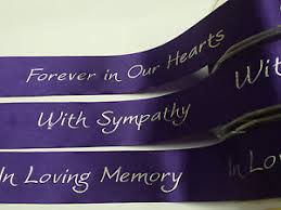 funeral ribbon ribbon bereavement funeral 38mm forever in our hearts with sympathy