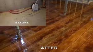 Laminate Flooring Over Concrete Basement Wood Concrete How To Make Concrete Look Like Wood Flooring Youtube