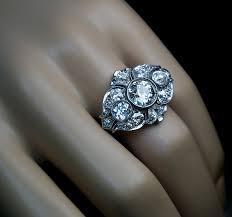 1920s art deco diamond platinum bracelet and ring antique