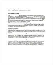 thesis statement template 9 free pdf word documents download