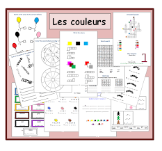 french vocabulary worksheets the colours teaching material