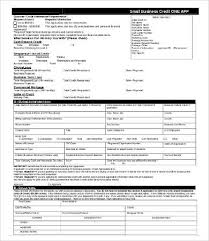 business credit application form 8 free word pdf documents