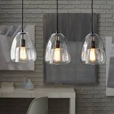 glass pendant lighting for kitchen islands 3 light kitchen island pendant lighting fixture