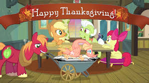 happy thanksgiving my pony friendship is magic