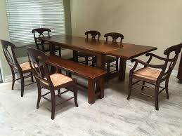 6 pottery barn napoleon rush italy chairs with table and bench