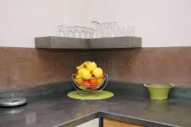 plan de travail cuisine en zinc cuisines cuisine sdb le comptoir du zinc