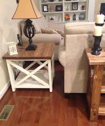 rustic x end table do it yourself home projects from ana white