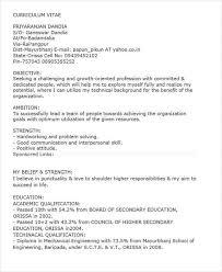 54 Resume Mechanical Engineer Sample by 40 Fresher Resume Examples