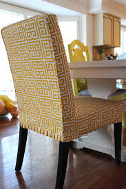 custom slipcovers by shelley greek key parson chairs