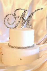 monogram cake toppers for weddings 3 6 swarovski mosaic style monogram cake topper any letter from