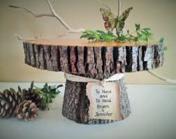 rustic cake stand treasury item 12 rustic wedding cake stand personalized cake