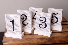 5 wedding table numbers harry potter table numbers wooden