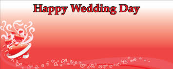 happy wedding day happy wedding day design personalised banner partyrama co uk