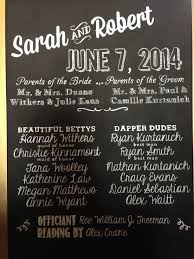 wedding program chalkboard how i macgyvered my chalkboard wedding signs by