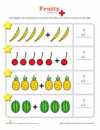 fruity fun worksheets animal food and fun