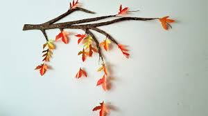 diy autumn fall tree branch room decor using cardboard youtube
