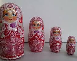 Very Pretty Flowers - very pretty flowers russian doll 5 pieces nesting dolls