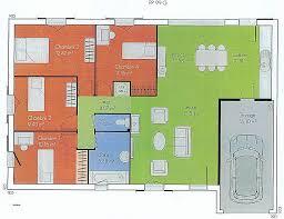 plan de maison de plain pied avec 4 chambres chambre fresh plan maison plain pied 4 chambres garage high