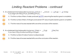 excess reactant ppt video online download
