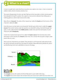 primaryleap co uk what is a river worksheet