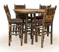 rustic pub table and chairs rustic pub table set