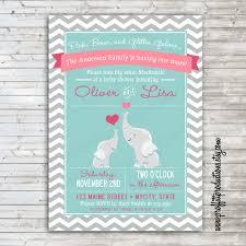 elephant baby shower invitations baby shower decoration ideas
