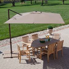 Aluminum Patio Umbrellas by Commercial Offset Patio Umbrella 10 Inch Bronze Pole Color Sturdy