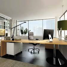 Modern Home Office Table Design Small Home Office Desks Sets Design With Neutral Color Wall Design