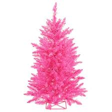 vickerman 3 pink artificial tree with 70 pink