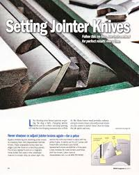 Wood Magazine Planer Reviews by Easy Accurate And Economical Planer U0026 Jointer Knife Changes 800