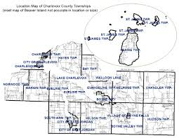 Map Of Bay City Michigan by Charlevoix County Consists Of 3 Cities 1 Village And 15 Townships