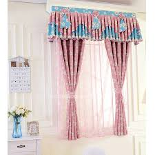 Pink Nursery Curtains Pink Polyester Floral Nursery Curtain Maiden Bay Window Curtain
